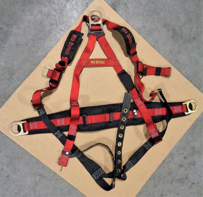 Web Devices XXXL Full Body Safety Harness, 310lb Max, Poly, H535XXXL