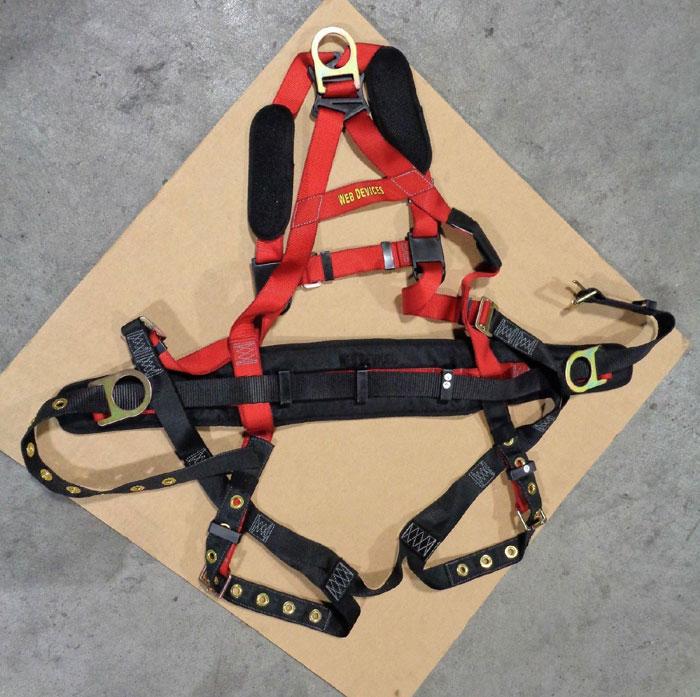 Web Devices XXXXL Full Body Safety Harness, 310lb Max, Poly, H535XXXXL