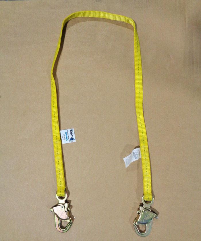 Reliance Single Leg Lanyard, 310 Lb. 6ft, Polyester, 711106, **Lot of (3)**