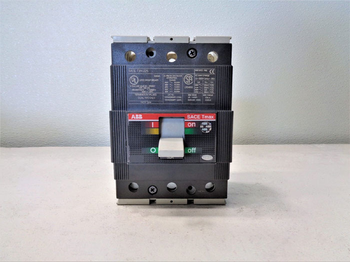 ABB SACE Tmax Molded Circuit Breaker 225A, 3-Pole, SACE T3N 225