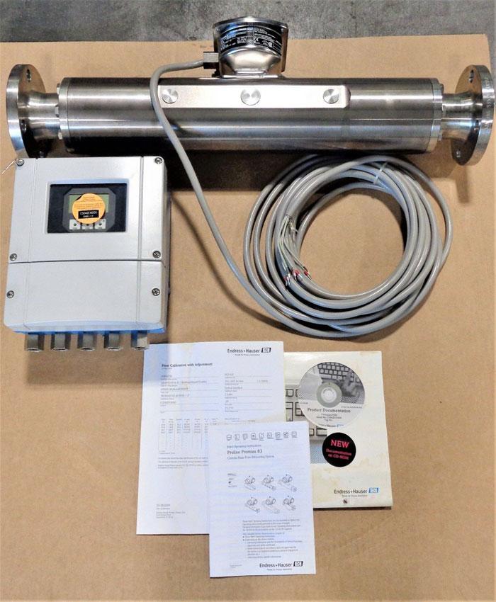 """Endress Hauser 2"""" 150# Promass 83M50 Coriolis Mass Flow Meter w/ Transmitter"""