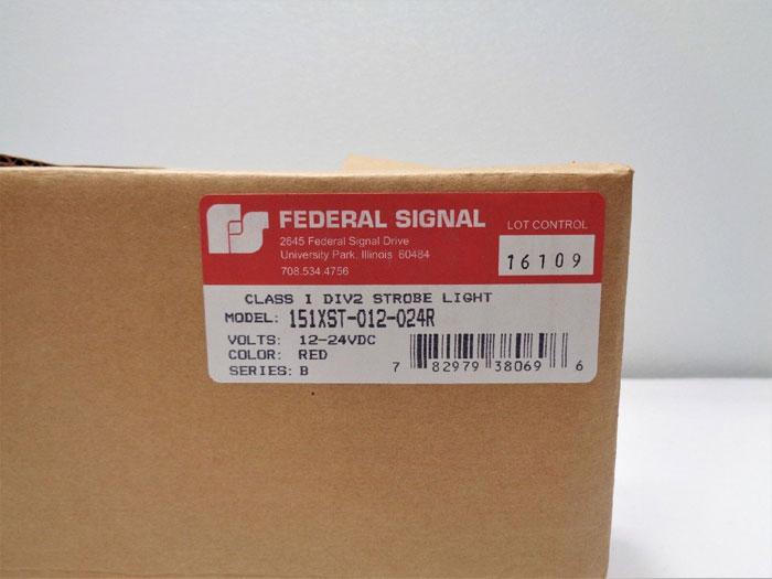 Federal Signal 151XST Red Strobe Light for Hazardous Locations 151XST-012-024R
