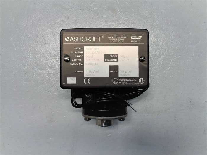 Ashcroft 60 PSI Pressure Switch B420S XFM