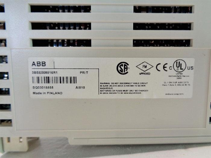 ABB AI810 Analog Input Module S800 I/O 3BSE008516R1, 1 x 8 Ch