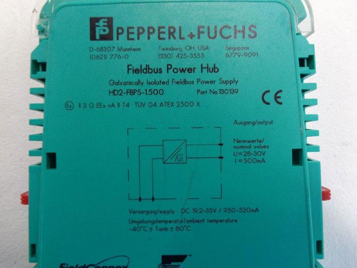 Pepperl Fuchs Fieldbus Power Hub HD2-FBPS-1.500, Part# 130139