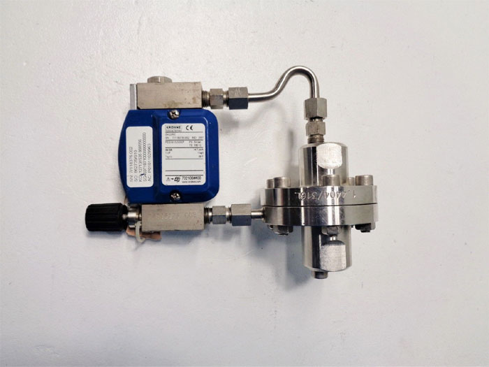 Krohne DK32/RE Variable Area Flow Meter w/ Differential Pressure Regulator