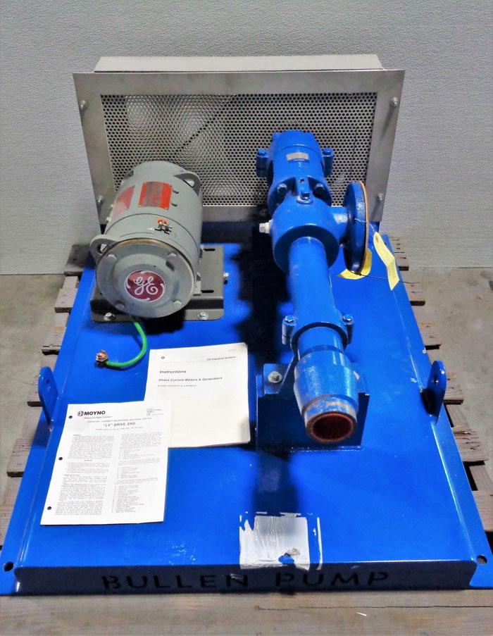 Moyno L-Frame Series Pump 2L4 CDQ 3AAA, Part# 3904012002 w/ GE 1.5 HP Motor