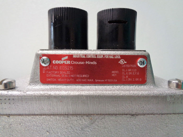 Cooper Crouse-Hinds Push Button Station EDS215