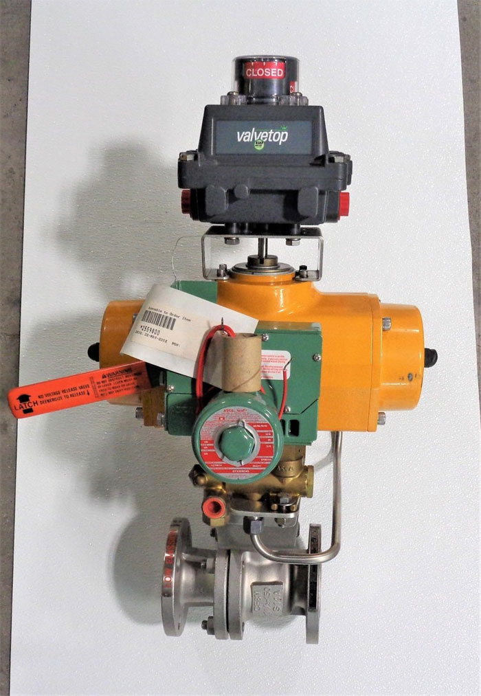 "Kitz 1.5"" 150# Full-Port Ball Valve, CF8M, #150UTDZM-FS w/ Field Q Actuator"