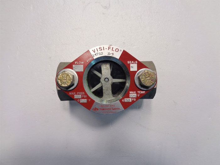 "OPW Visi-Flo 3/4"" Sight Flow Indicator w/ Propeller, Stainless Steel"