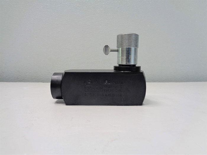 """Parker Hydraulic 1/2"""" Flow Control Valve, 3000 PSI, 15 GPM, PCCM800S  FV-20BA"""
