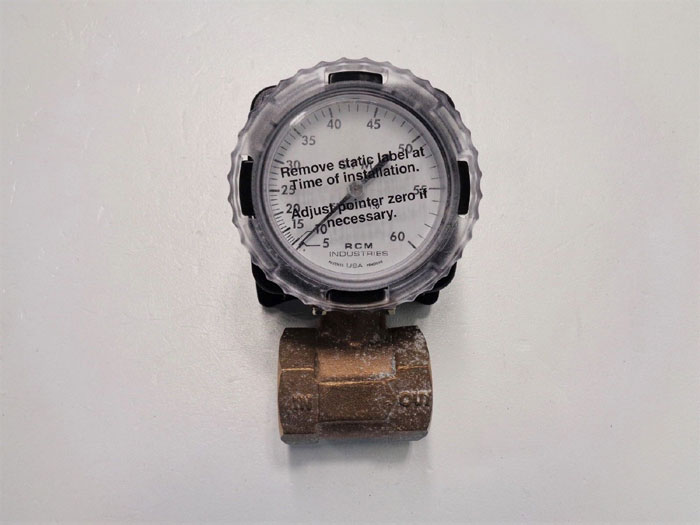 RCM Industries .5 to 60 GPM Flo-Gage Flowmeter, Bronze, 1 1/2-71-R-60
