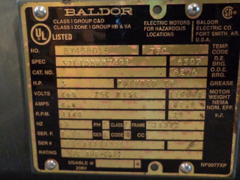 VIKING PUMP 228048-002 w/ BALDOR 3HP MOTOR 37L108W874G1