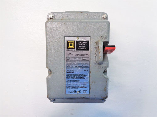 Square D Explosion Proof Manual Starter, Class 2510, Type MBR 2, Series A