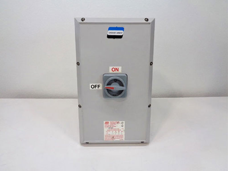 Crouse Hinds N2RS Control Switch N2RS603, 60A w/ Disconnect Switch RSWP603