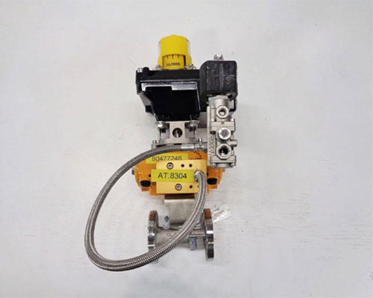 "Velan 1/2"" 150# Full Port CF8M Actuated Ball Valve w/ Hytork 26 Actuator"