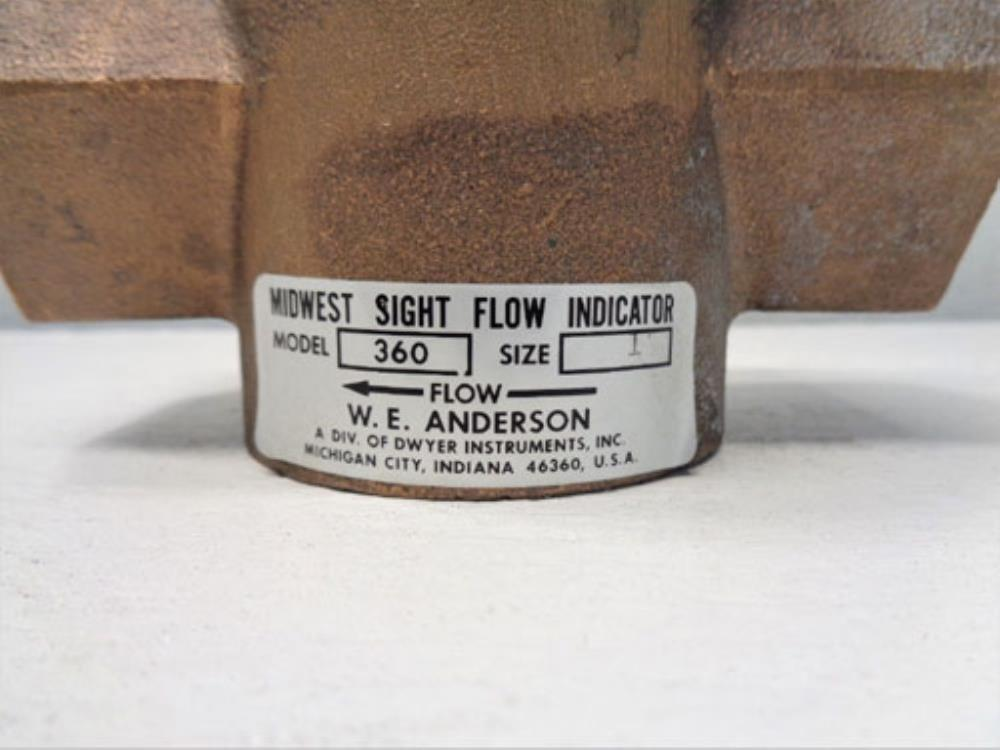 "W.E. Anderson Midwest 1"""" Sight Flow Indicato"